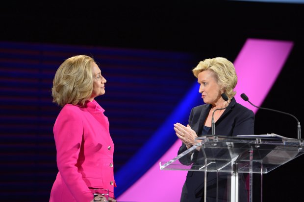 Hillary Clinton & Tina Brown