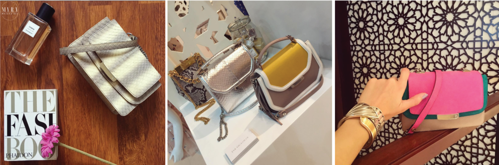 | Farah Asmar |  Available through the Middle East, Asmar's bags are known for their interesting shapes, vibrant textures and pop hues. You've got to add one of these to your holiday wardrobe.   Instagram: @farah_asmar