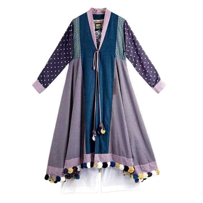 Multi-fabric jacket : Ranji
