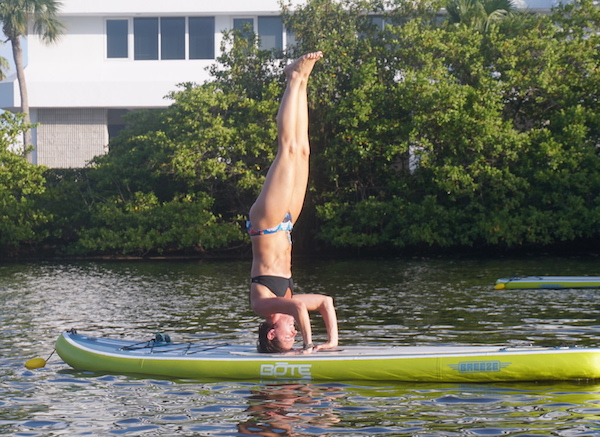 Standup Paddle Board Yoga on an 11' Bote Breeze