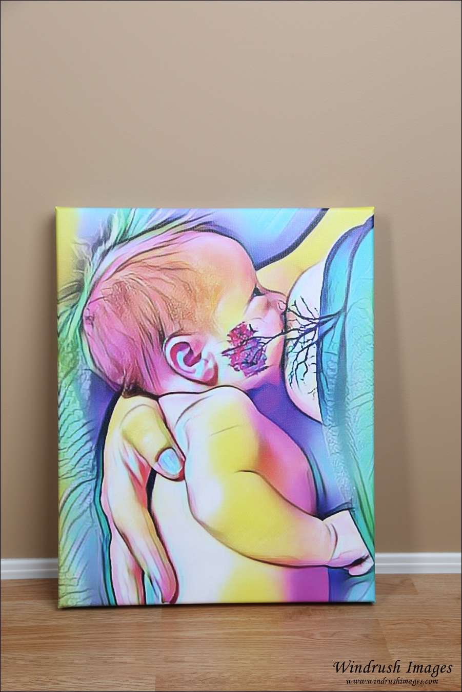 Canvas of tree of life breastfeeding photography