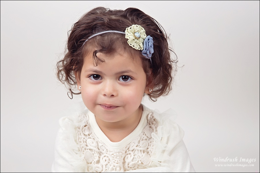 Close up picture of little girl at Spring photography photo shoot in Calgary Alberta