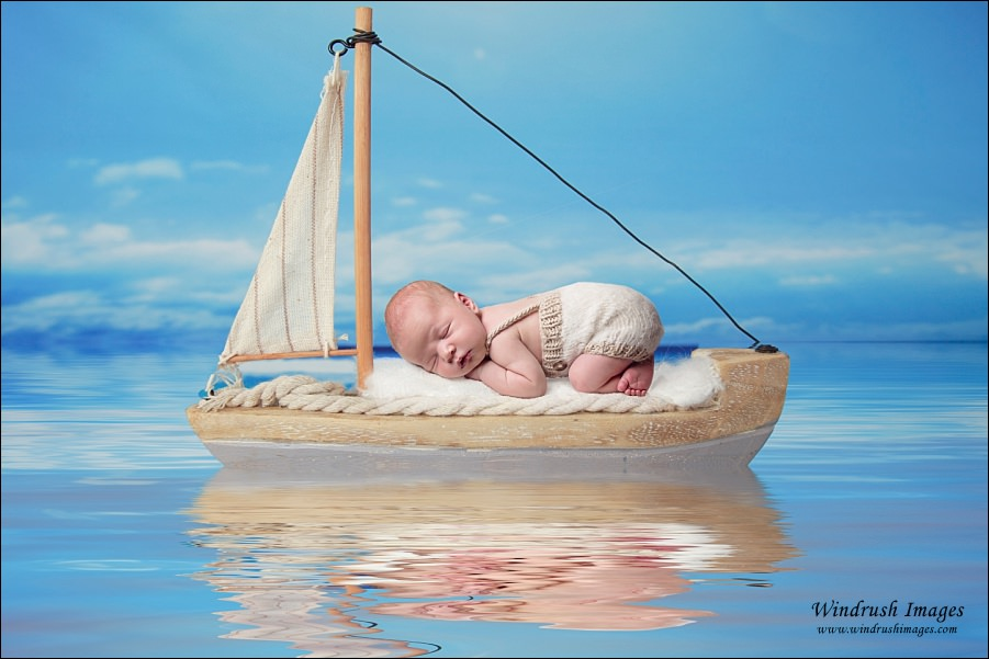 Calgary-newborn-photography-with-sailing-theme