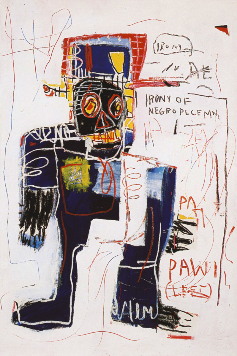 Irony of a Negro Policeman  by Basquiat
