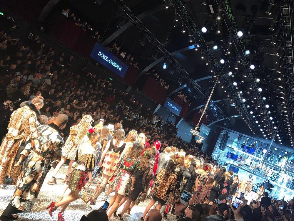 Dolce and Gabbana Fashion Show.