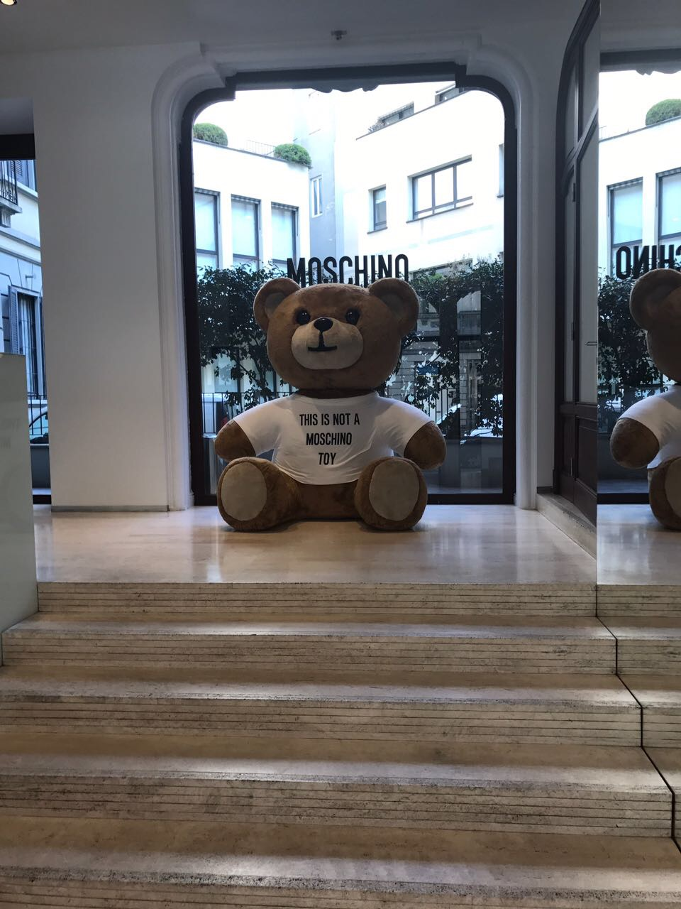 Moschino buying appointment.