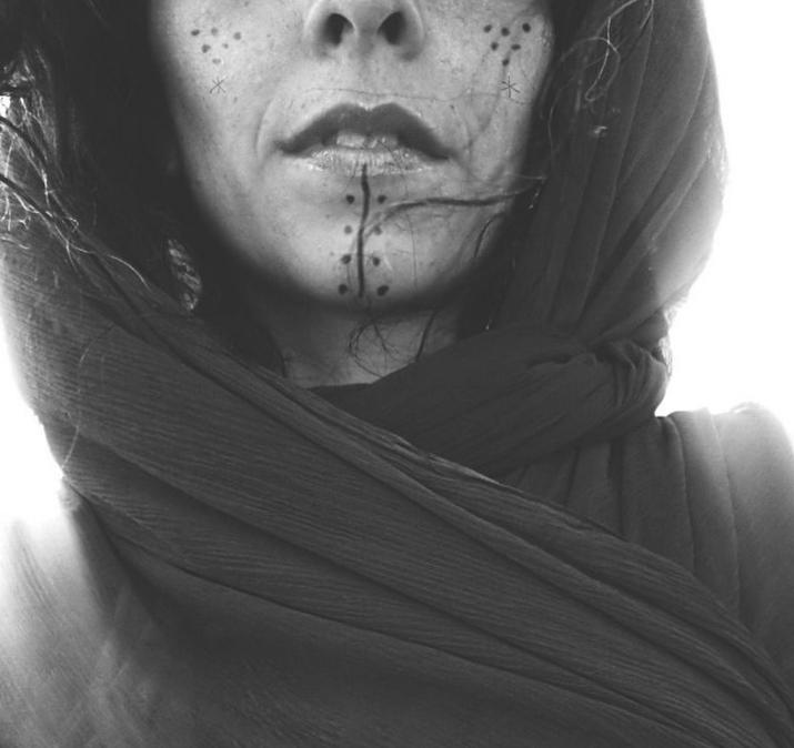 Bedouin Arabian Woman with a Tribal tattoo