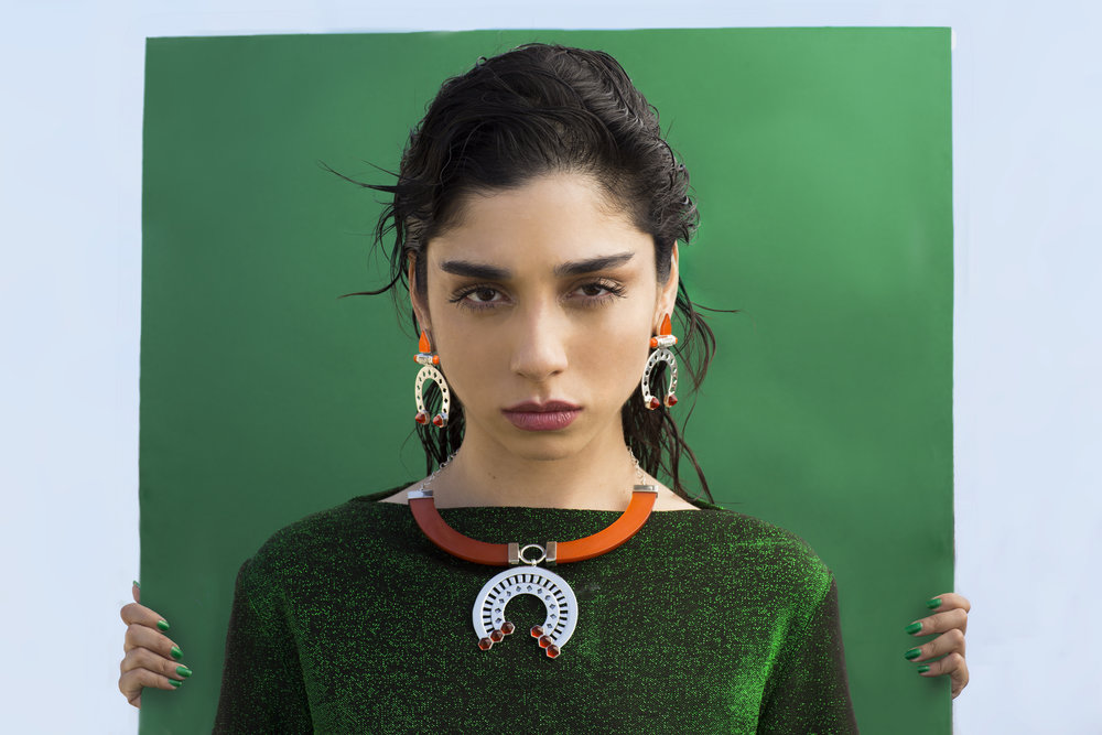 Chanel Arif  photographed by  Malak El Sawi . Produced by  Zoom Fashion . Styled by  Ahmed Nabil .