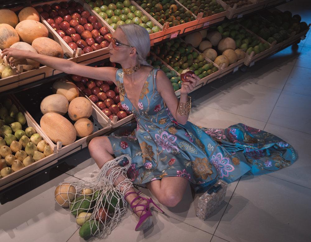 Anicee Gohar  photographed by  Hady Ashraf  &  Marwan Morsy  for  Flare PR  on location at  Fresh Food Market .