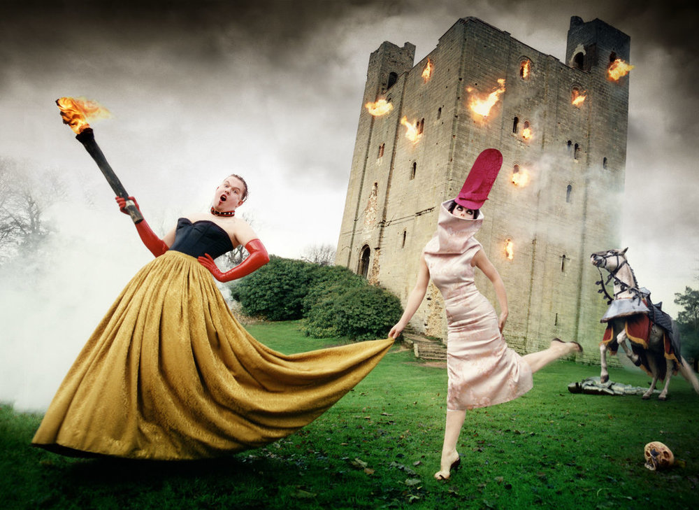 David LaChapelle,  Alexander McQueen and Isabella Blow: Burning Down the House , 1996. Image courtesy of Staley-Wise Gallery.