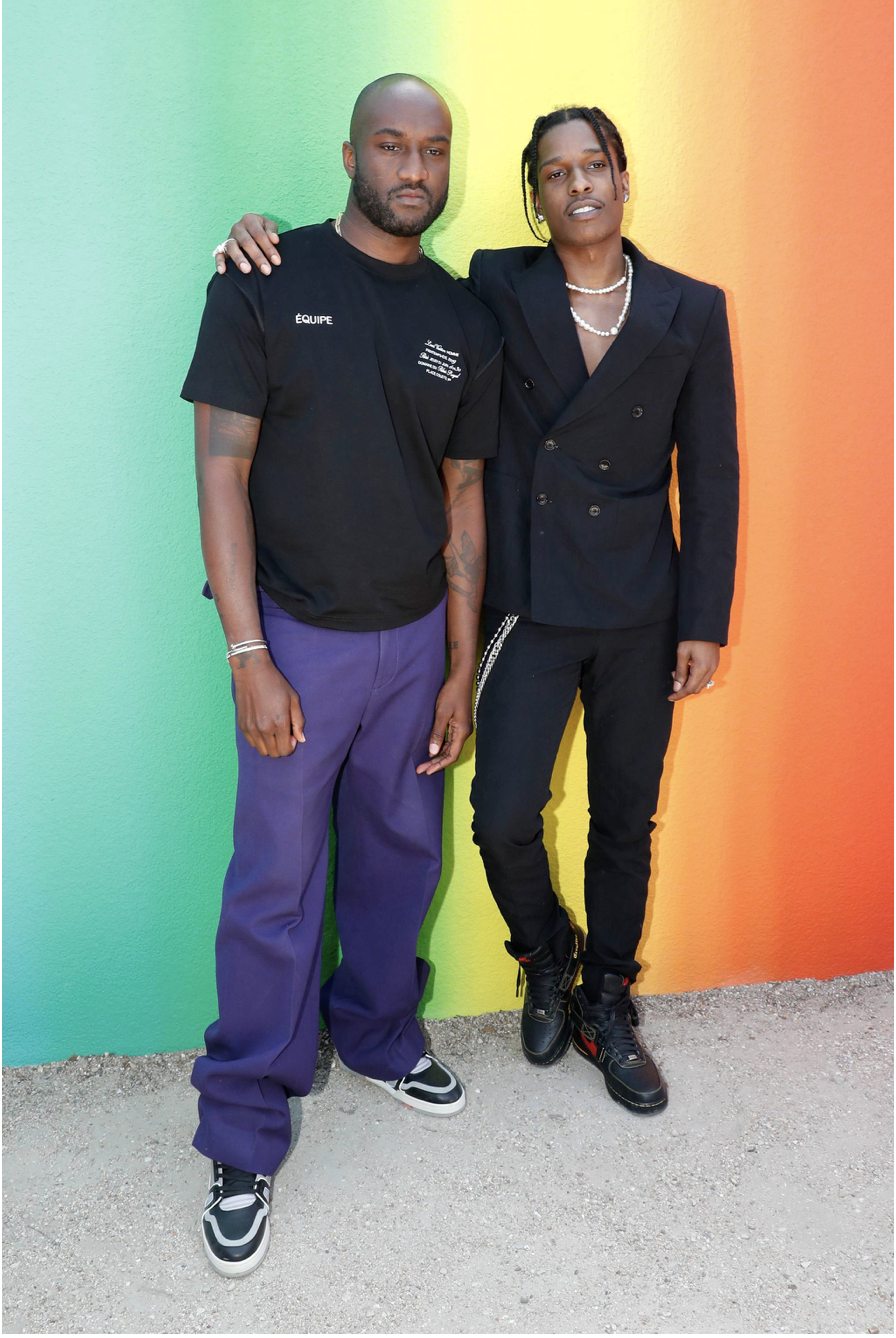 Virgil Abloh And A$AP Rocky. Photo: Getty Images
