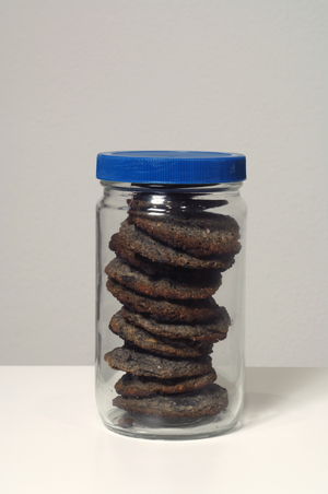 "Cookies baked with ashes from ""Cremation Project,"" 1970. Courtesy of Artist and Galleries."