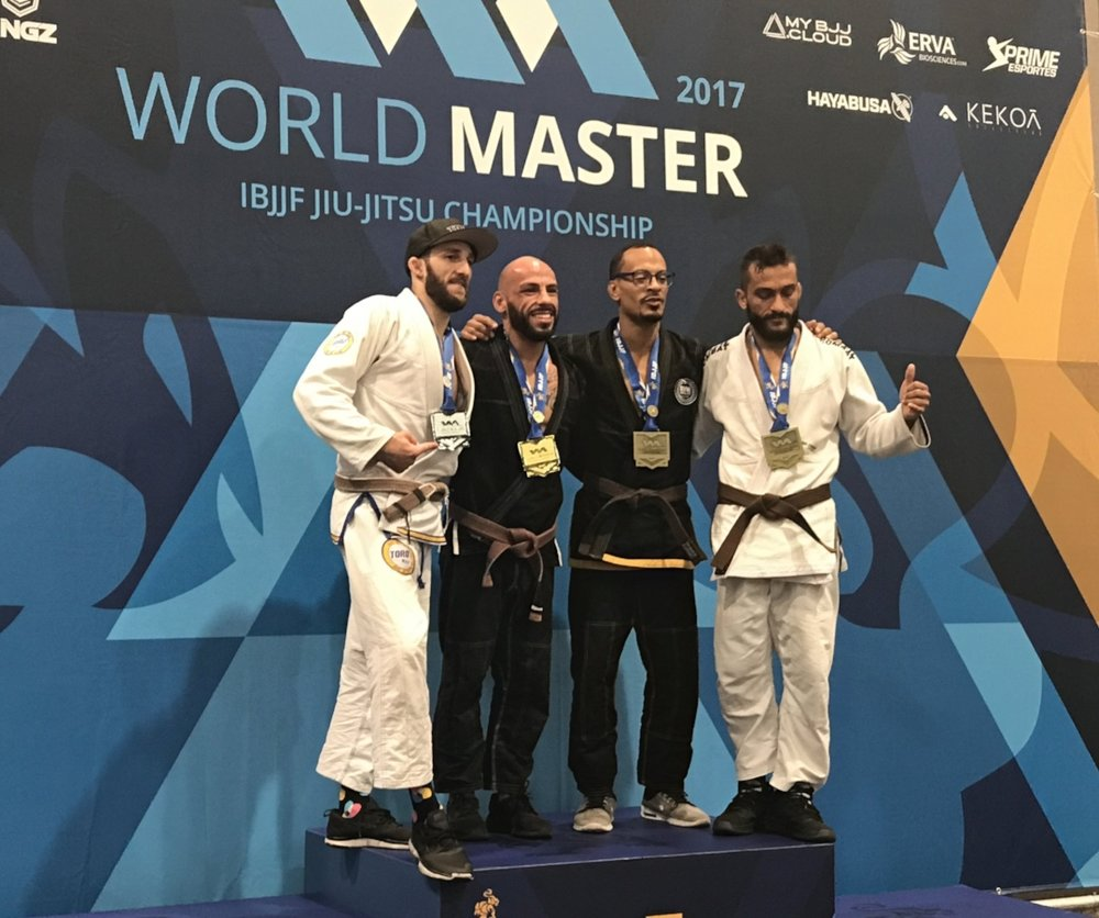 Coach Alvaro makes it to the podium at the Masters World Championship again with a bronze in 2017! -