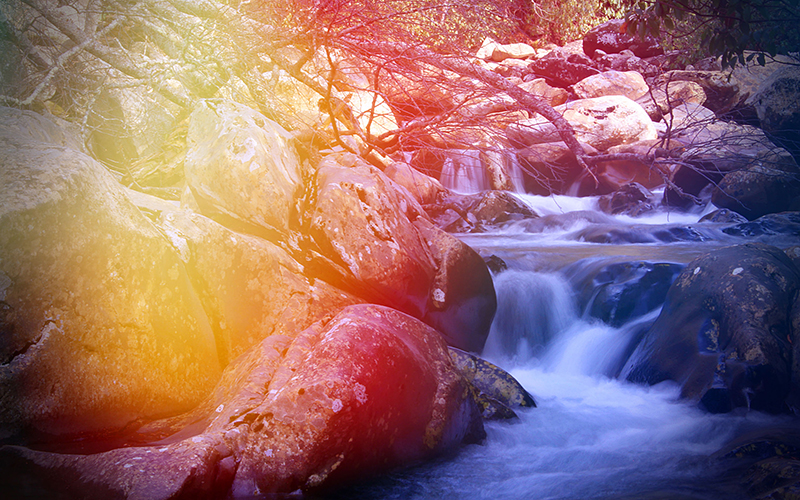Your blood pulses through your body at a similar pace as a rushing river.