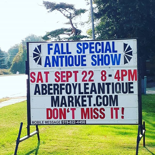 Tommorow's the day! Aberfoyle Antique Market Fall Show. Over 100 additional vendors! Its going to be a great day for antiquing and ice cream! Visit us tomorrow and Sunday @aberfoylemrkt 8am -4pm