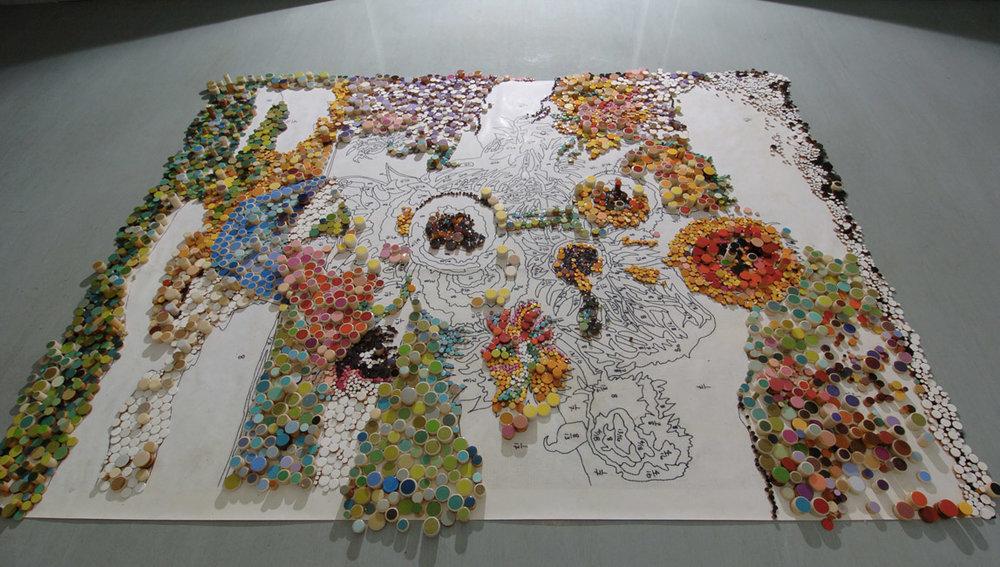 Hiding Van Gogh, 2006, 9' (w) x 12' (h)