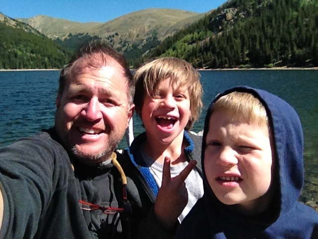 Spending some time at Jefferson Lake fishing with my boys!