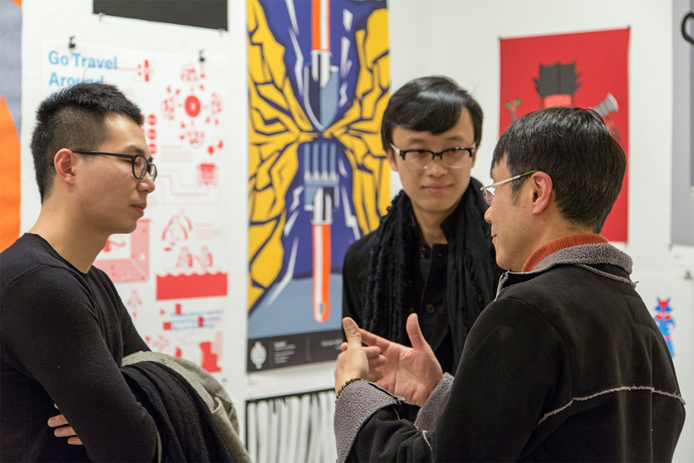 GD MFA students chat with president Sammy Hoi