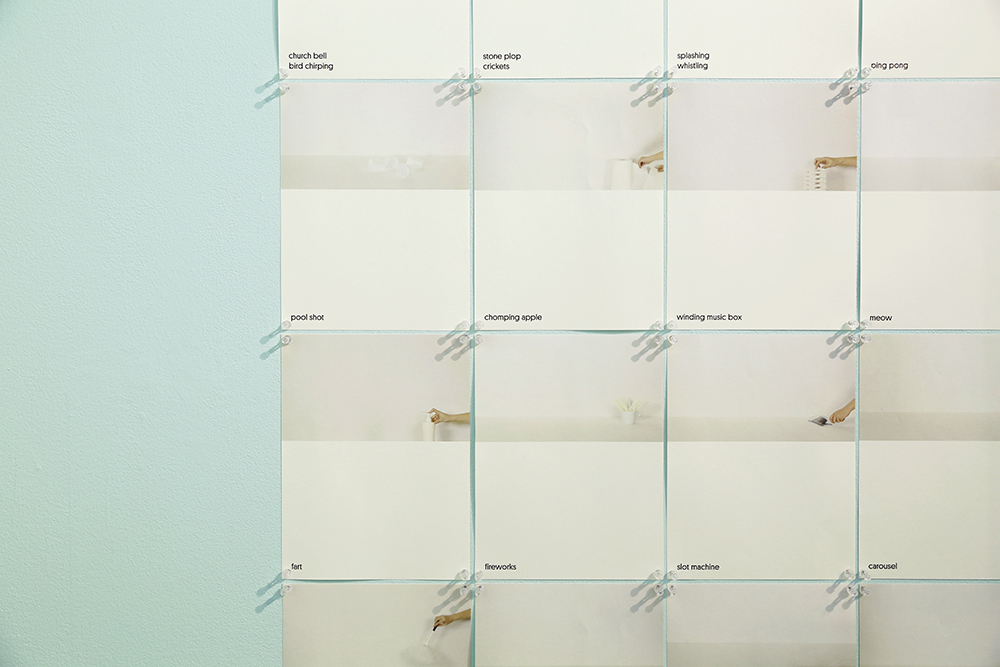 A series of posters that display the imaginative relationships between daily objects and sounds.