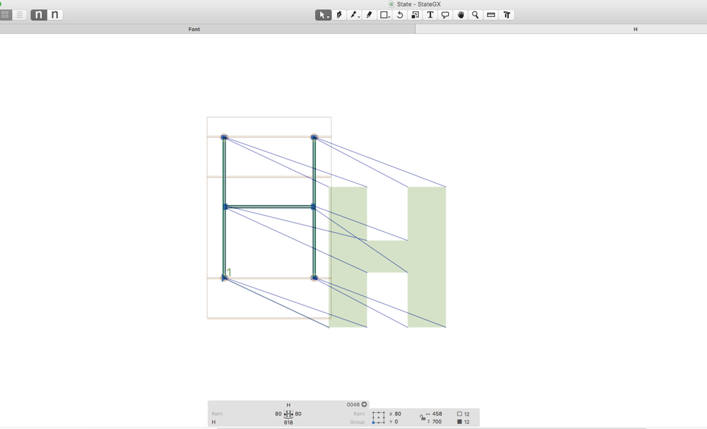Drawing process to make a variable font.