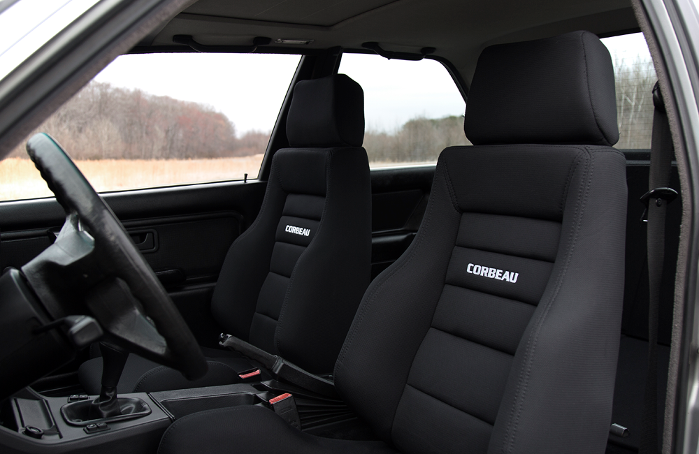 The interior has been converted to an all black color pallet to maximize the outside and minimize distractions inside.