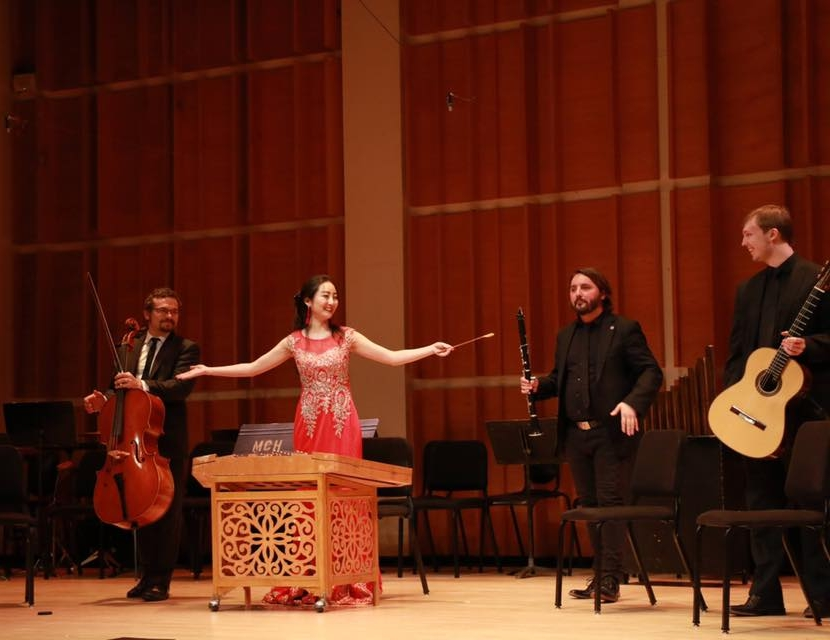 Performing at Merkin Concert Hall in a premiere by Yunzhuo Gan