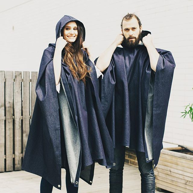 R A I N • R A I N ☔️ Check out our new 3-in-1 showerproof denim poncho (which doubles up as a gazebo and picnic blanket! 🙌🏻) Designed and lovingly handmade by us ✂️ 10% of profits go to charity. #festivalfashion #picnicready #3in1
