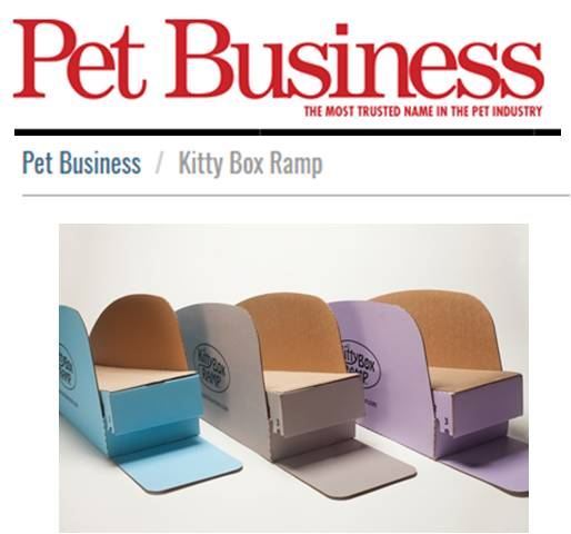 BEST PET BUSINESSES   The Kitty Box Ramp is an eco-friendly, 100 percent recyclable cat box ramp.