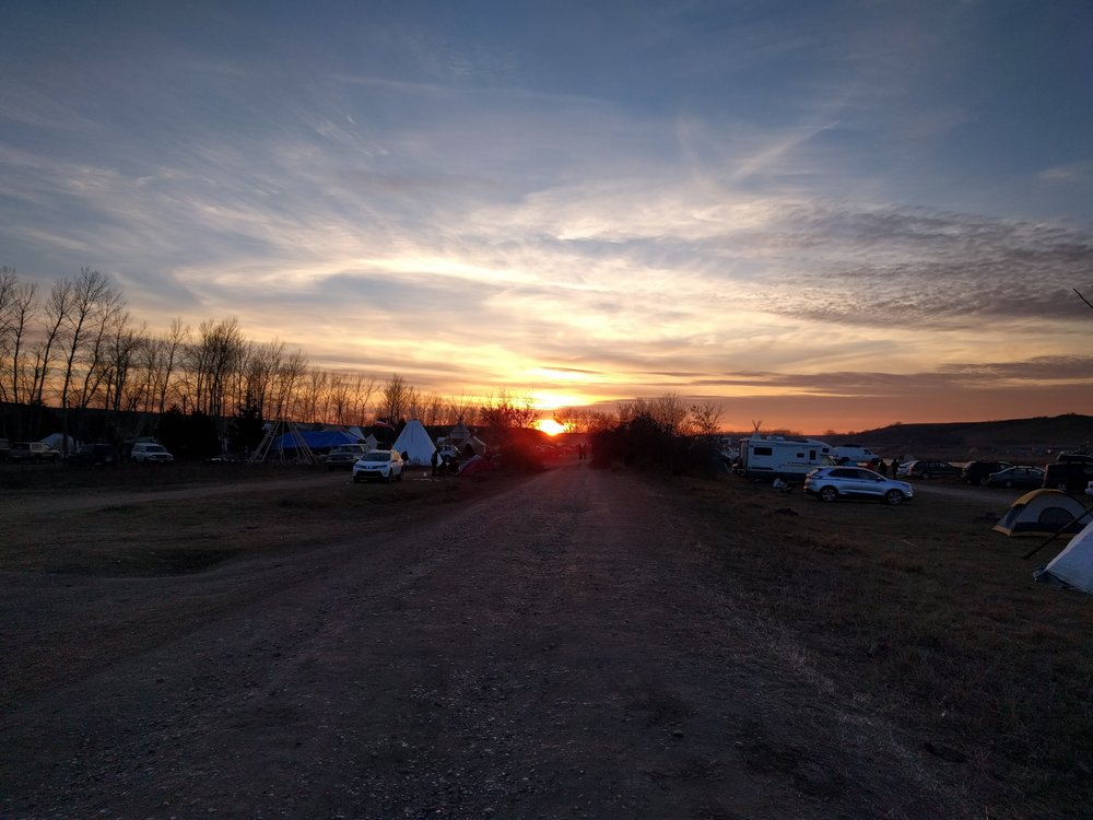 Standing Rock sunset