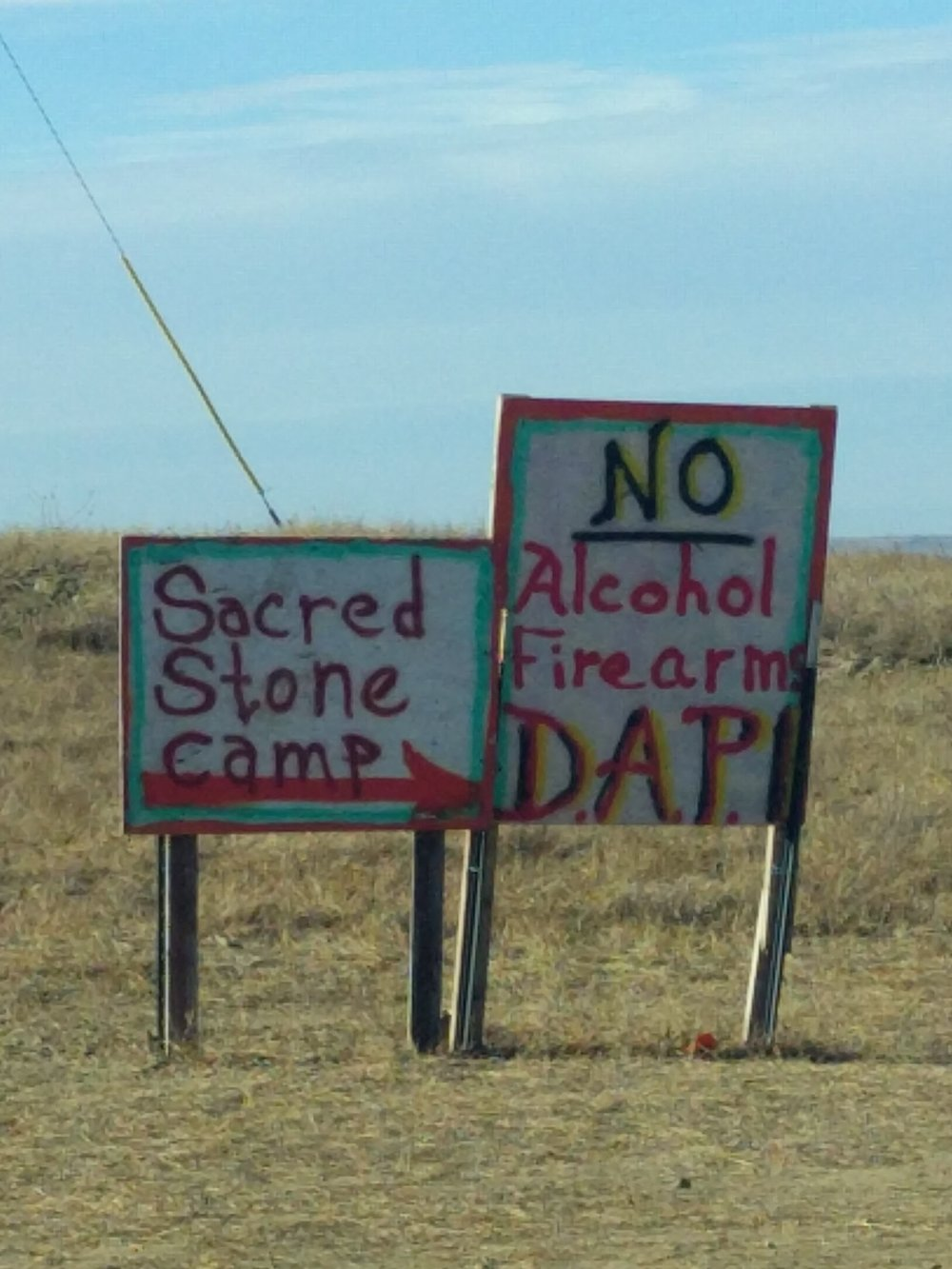 Sacred Stone Camp: No alcohol, firearms, or DAPL