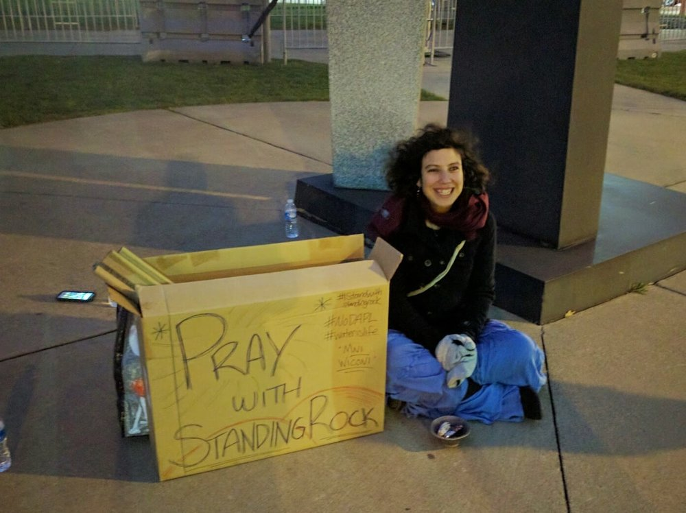 In global prayer with Standing Rock in Cleveland, Ohio