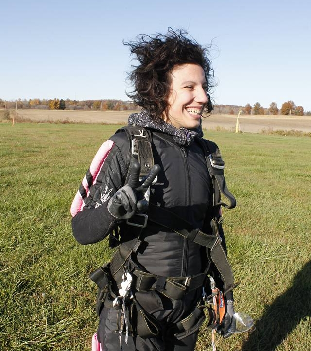 Just after my first time skydiving, 2015