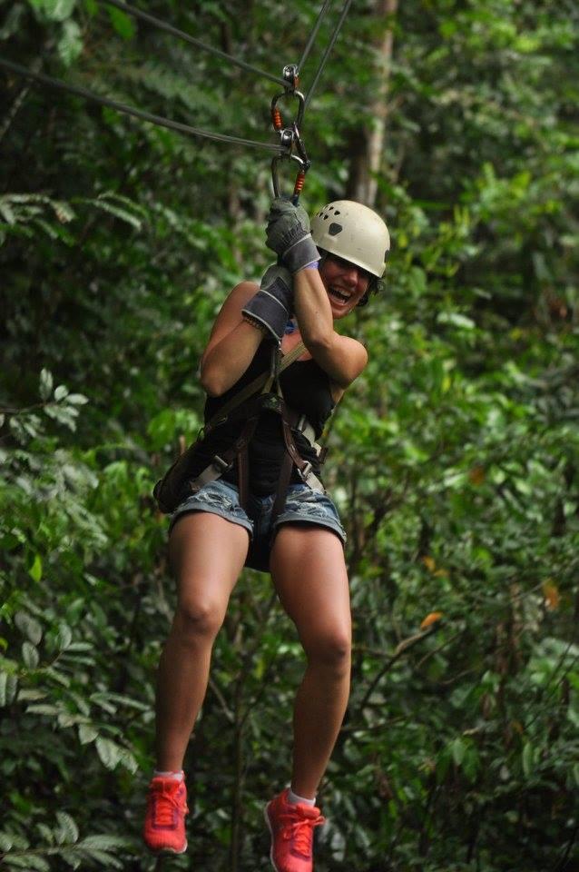 Ziplining in Jamaica, 2016