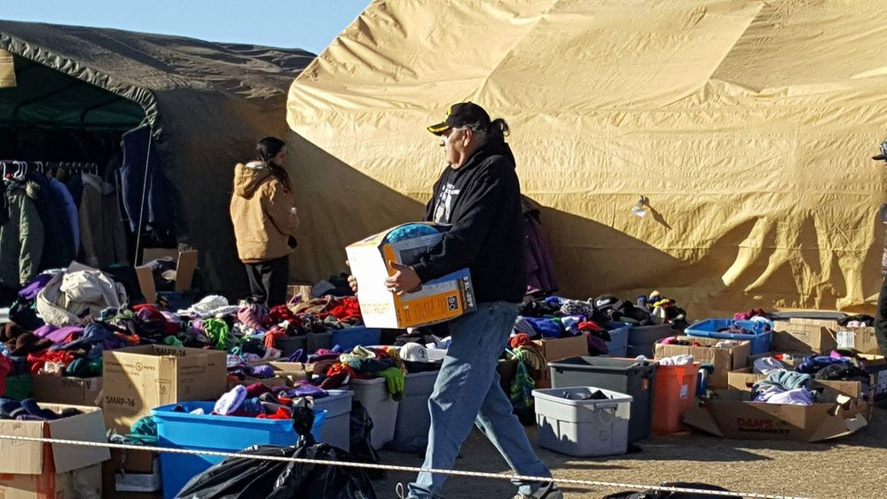 Working Donations at Standing Rock