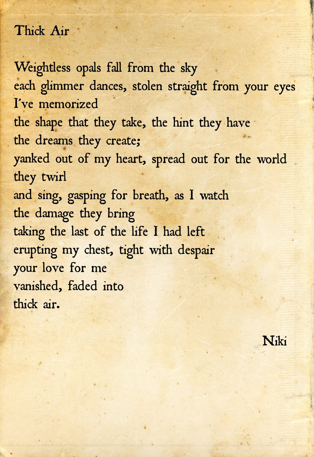 thick air niki poetry