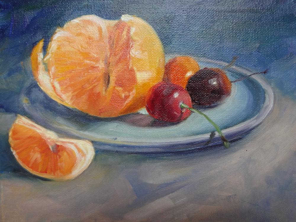 Tangerine and Cherries