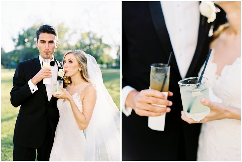 Signature wedding drinks, an Arnold Palmer and a Margarita  by Top Texas Wedding Photographer Hannah Mayson