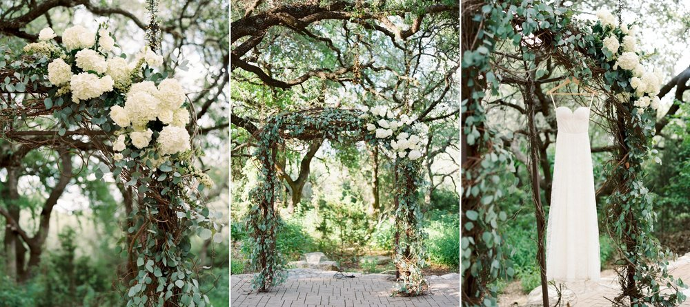 One wedding trend that I don't see going anywhere is floral arches at the ceremony. It's an easy way to make the altar a focal point (and it often serves as a beautiful place to photograph the dress)! Here are a few different takes on Floral Arches from recent weddings!