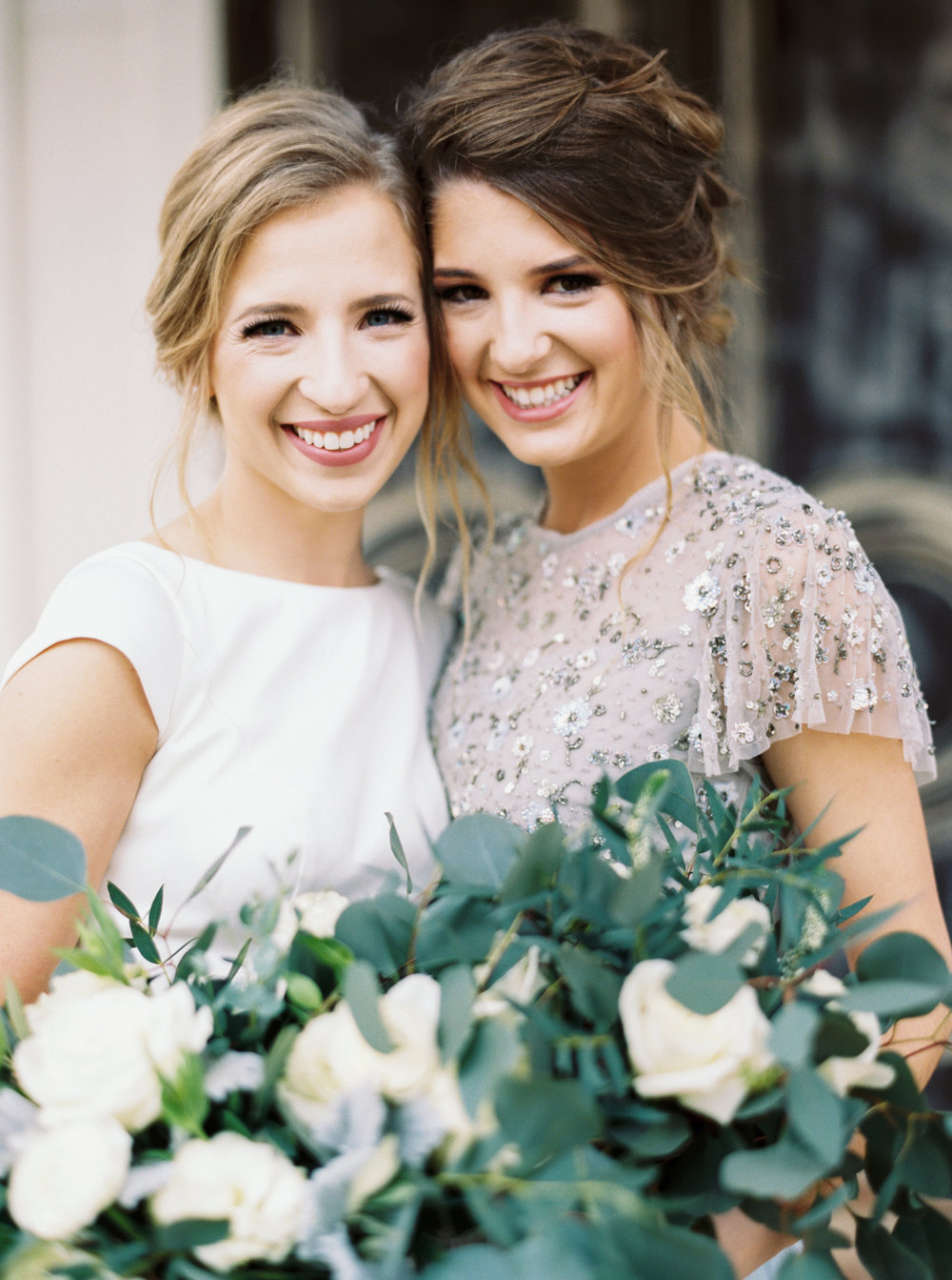 Embellished BHLDN Bridesmaid Dress