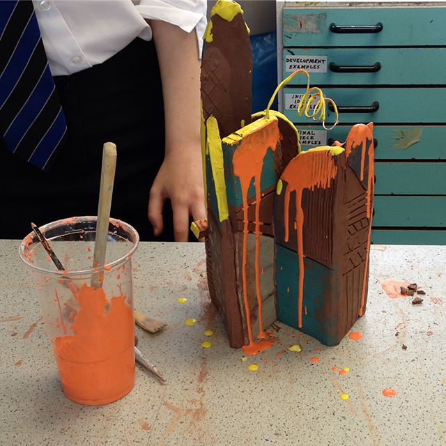 'Psycho buildings' exploration of architecture, clay an surrealism @craftscouncil #makeyourfuture