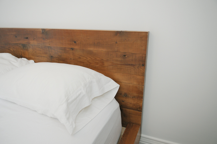 The head board is what makes this bed cozy...the perfect touch of rustic and charm