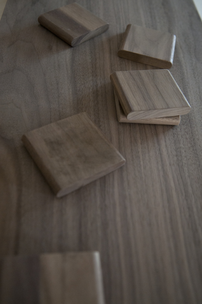 the loose tenon that joins the panels together was also made of walnut.  Yes, we like walnut that much!