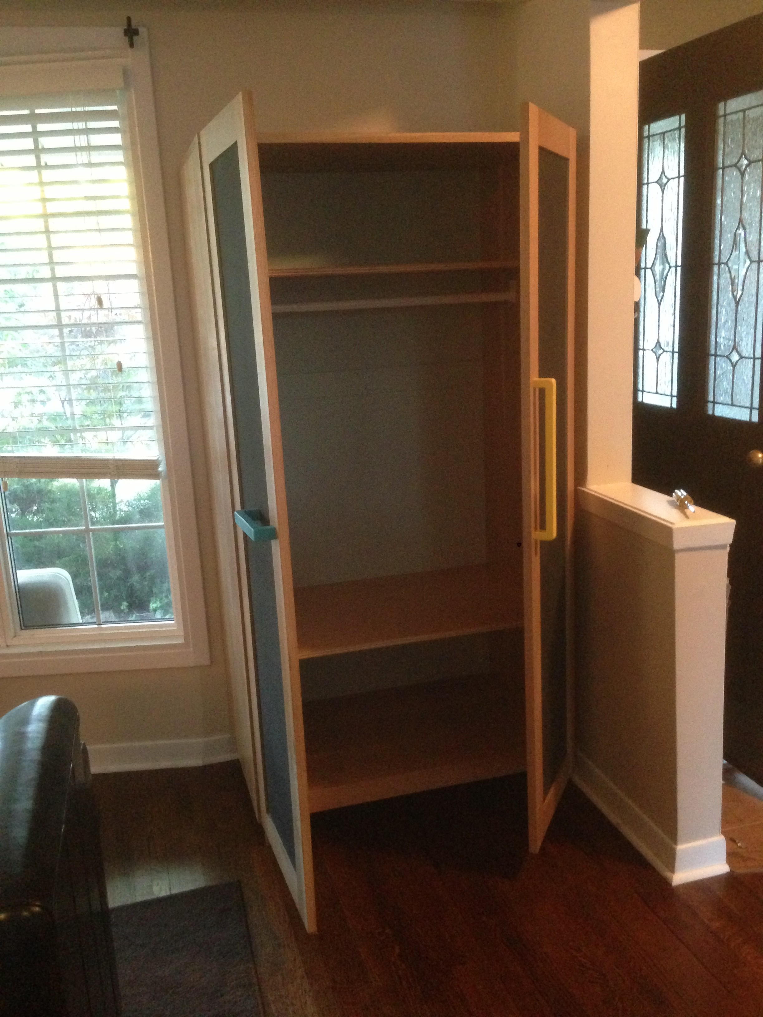A portable mudroom!  Pretty convenient.