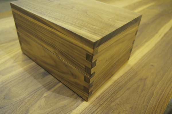 "This box is about 12""W x 8""L by 7"" H made using finger joints"
