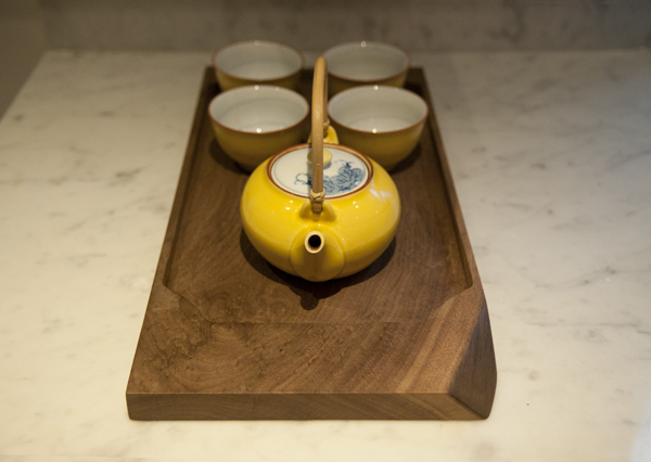 It's so fun to play tea when you've got a walnut tray!