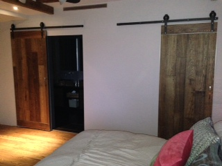 Two Barn Doors side by side in a Montreal Bedroom — Barn ...