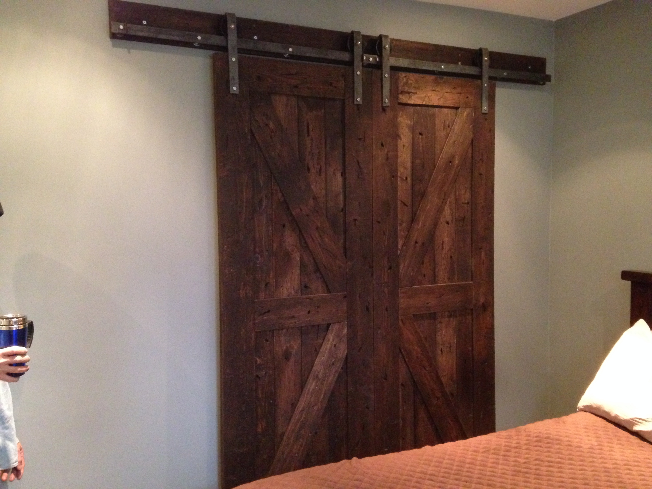 These are not just any barn doors, they become the Union Jack Flag when closed, and that's what makes them so cool