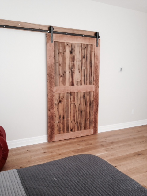 The barn door looks beautiful with that floor and definitely something nice to wake up to.