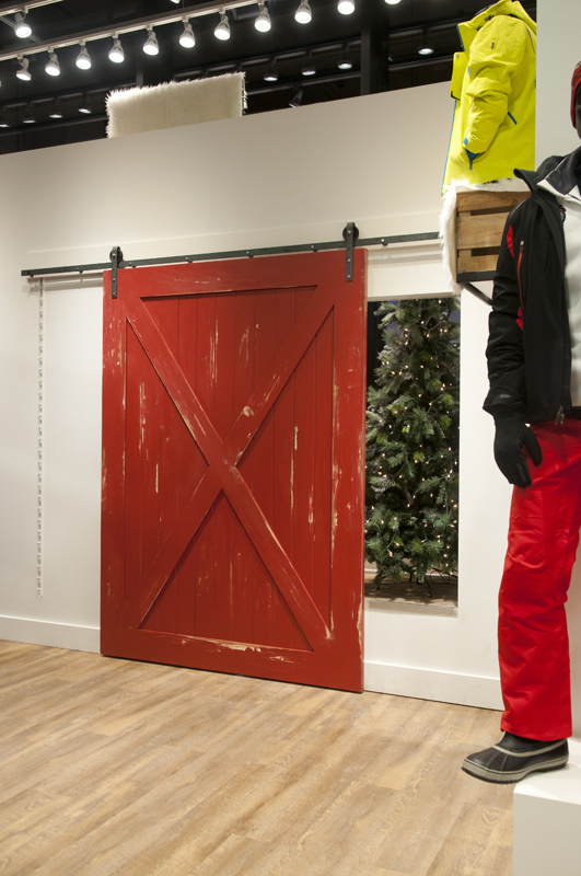 The Other Red Door, Also Covering Access To The Display Window
