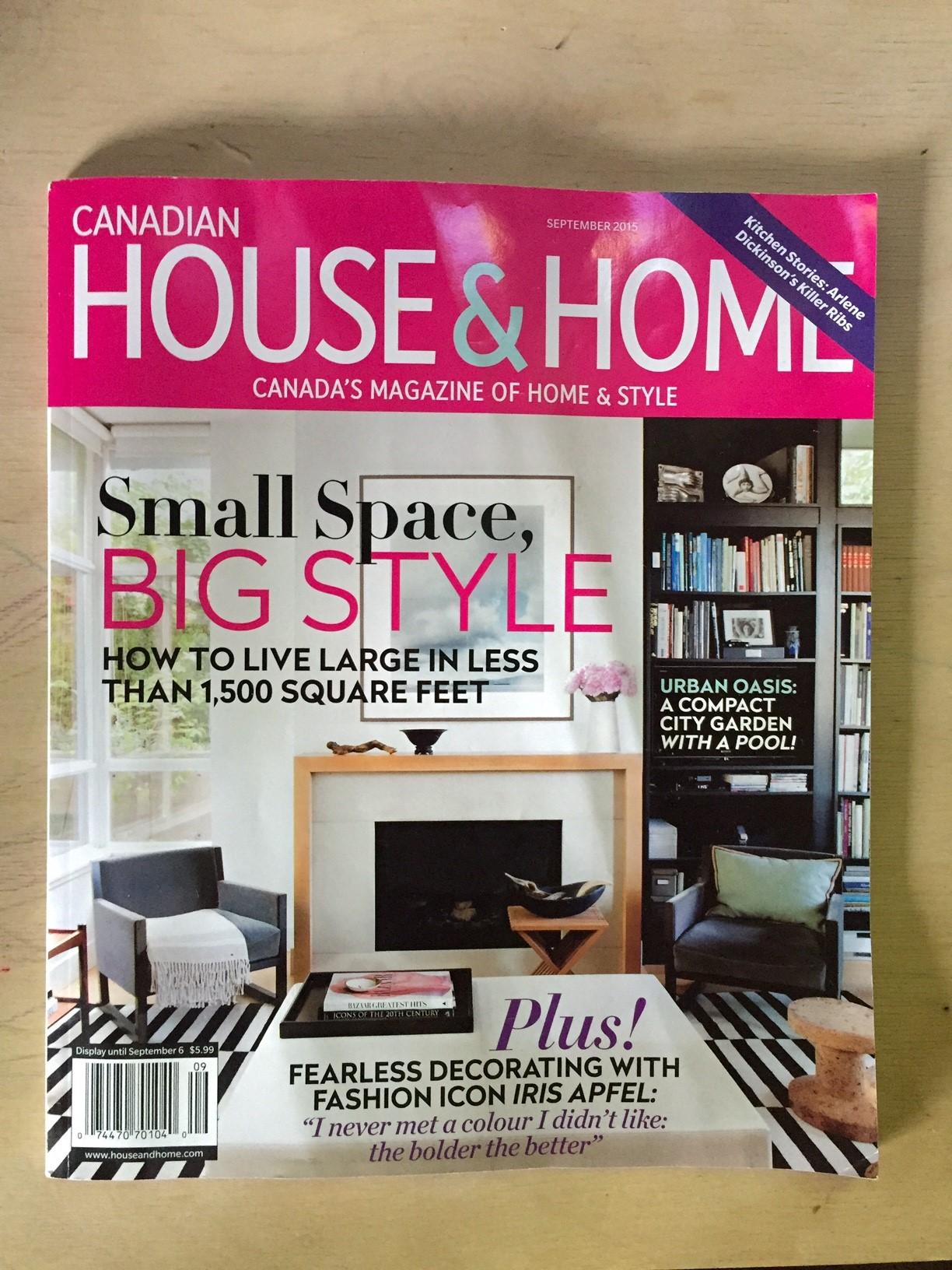 And that's what H&H looks like for September 2015